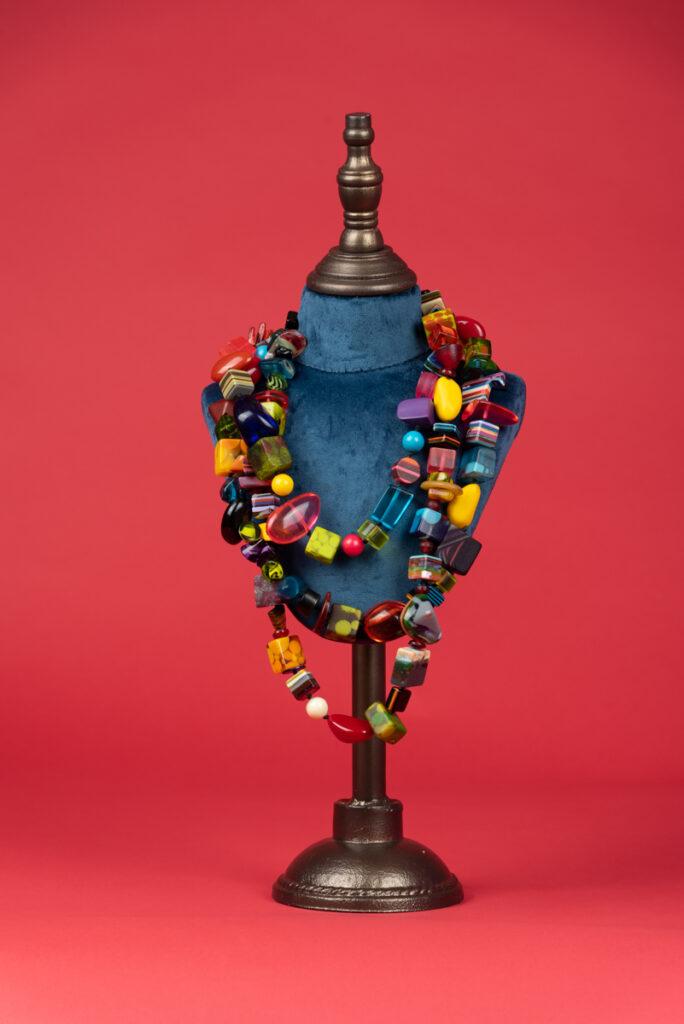 Collana vintage in resina multicolor JACKIE BRAZIL SOBRA VINTAGE
