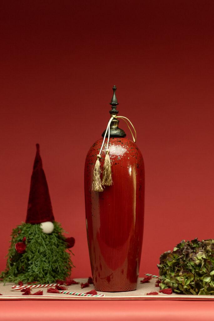 Dovì | Vaso orientale in ceramica rossa