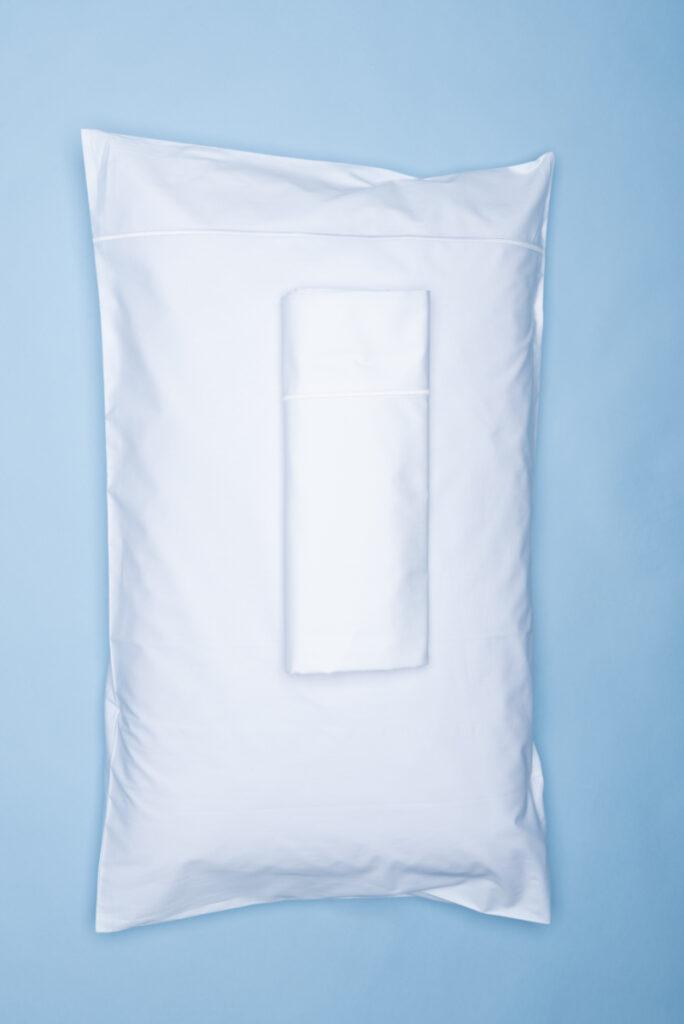 Dovi | completo letto singolo in cotone percalle bianco