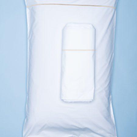 Dovi | completo matrimoniale lenzuola cotone percalle bianco