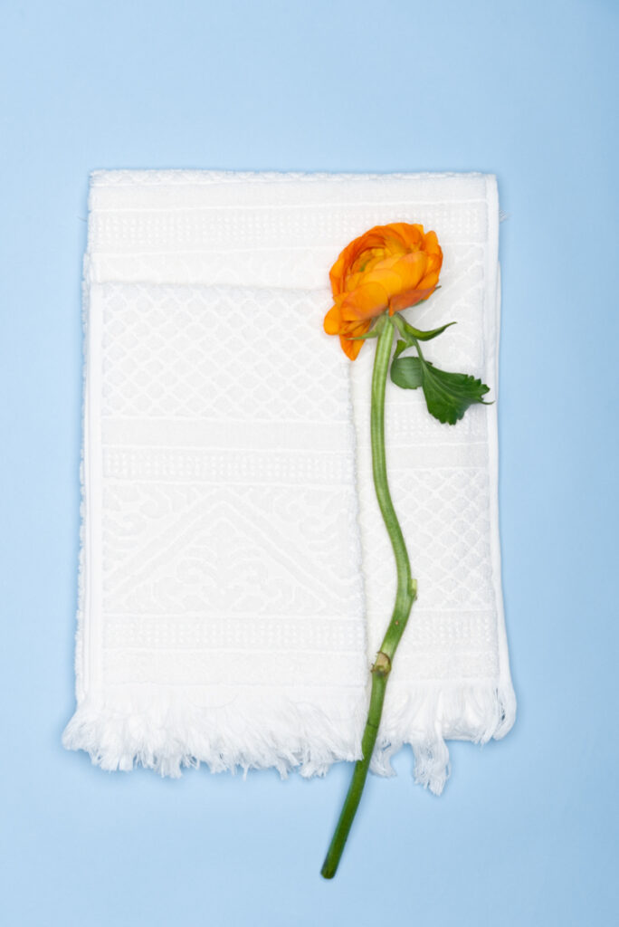 Dovi Details | coppia di asciugamani in spugna panna con frange