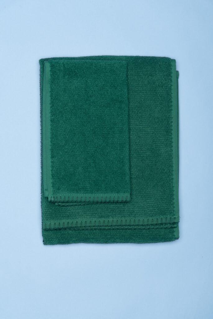 Dovi Details | coppia di asciugamani in spugna verdone