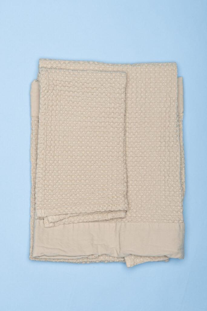 Dovi Details | coppia di asciugamani in cotone nido d'ape beige