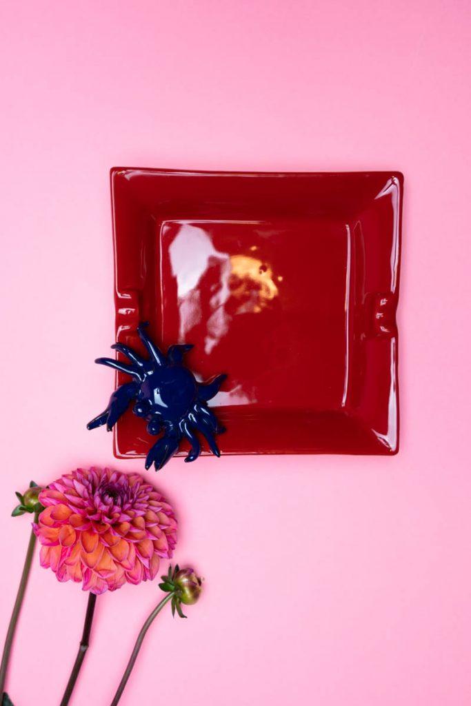 Dovi | posacenere in ceramica rossa