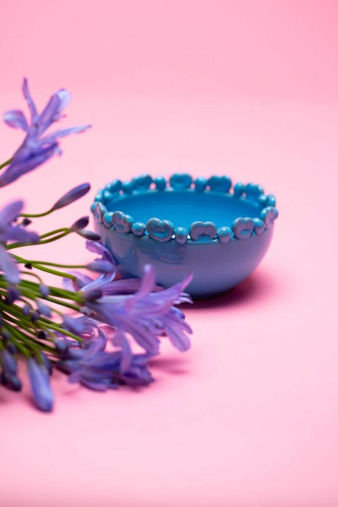 Dovi   coppetta in ceramica turchese