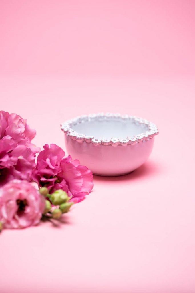 Dovi   coppetta in ceramica bianca